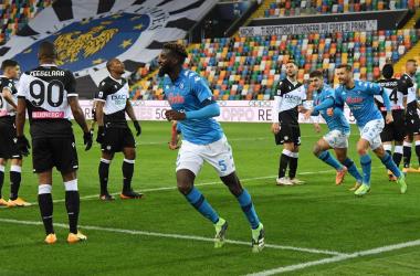 L'esultanza di Bakayoko dopo il gol dell'1-2. | Foto: Twitter @sscnapoli.