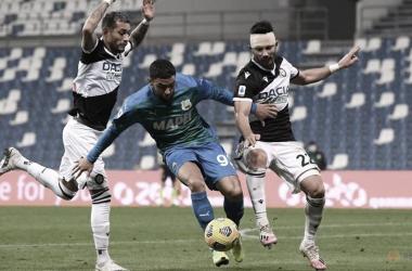 Sassuolo e Udinese maltratam a bola e ficam no zero