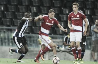 Gaston Ramirez in action v Udinese (Picture from gazettelive.co.uk)