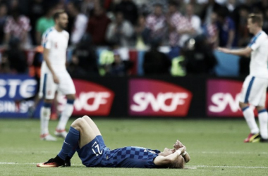 Domagoj Vida wasn't the only Croatian in disbelief at the final whistle. (Photo: UEFA.com)