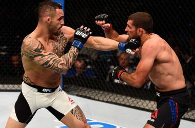 Santiago Ponzinibbio comienza a ponerle punto final a las aspiraciones de MCgee. Foto: UFC.COM