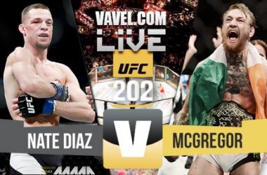 Resultado luta Nate Diaz x McGregor naUFC 202