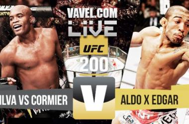 Resultado luta Anderson Silva vs Cormier e José Aldo x Edgar no UFC 200