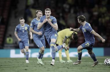Nos acréscimos da prorrogação, Ucrânia vence Suécia e segue na Eurocopa