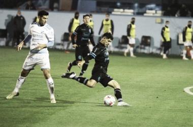 Con un gran remate de afuera del área Ulises Sánchez convirtió el gol del triunfo. Fuente: (Prensa Belgrano)