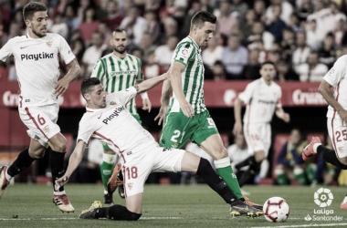 Imagen del último derbi disputado entre Betis y Sevilla. Foto: LaLiga Santander