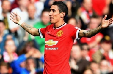 Di María con la camiseta del Manchester United (Foto:Fox Sports)