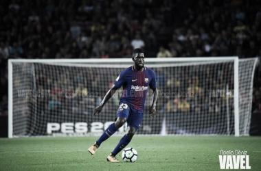 Umtiti, en un encuentro con el Barça | Foto: Noelia Déniz - VAVEL