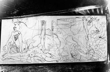 Un Guernica primigenio. Foto: Dora Maar/ Museo Nacional Centro de Arte Reina Sofía