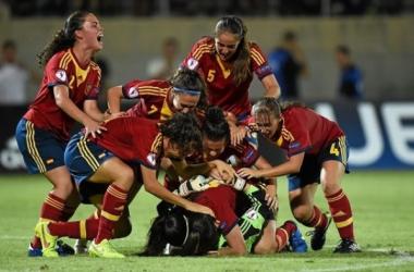 La selección española sub-19, a por el título. | Foto: UEFA.