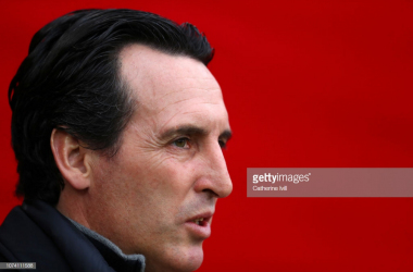 Emery watches on as his side lose their first game in 23 outings - Photo credit: GettyImages- Catherine Ivll