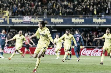 Ünal celebrando el gol de la victoria frente al Atlético de Madrid | Foto: web oficial del Villarreal CF