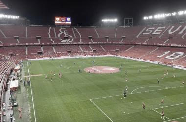 Estadio Ramón Sánchez - Pizjuán ausente de aficionados / Foto: Juan Lagares