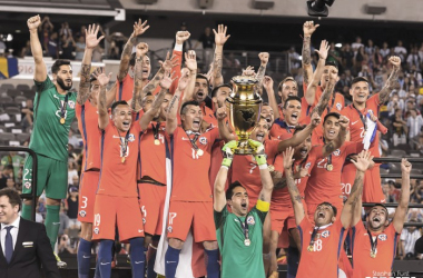 Chile was left holding the trophy for the second-straight year.   Photo: Stephen Furst/VAVEL USA