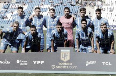 Los jugadores festejan el tanto de Gonzalo Abrego. Foto: Prensa Godoy Cruz.