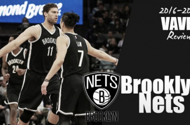 Brook Lopez with Jeremy Lin during '16-'17 Season.