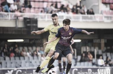 Riqui Puig, en acción ante el Villarreal B. FOTO: Noelia Déniz