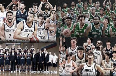 Los seleccionados del grupo B. Fotos: FIBA.
