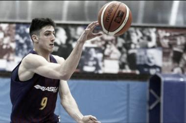 """Bolmaro en un partido con el Barcelona Lassa """"B"""". Fuente: NBA.com"""