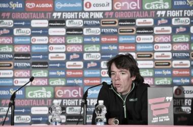 Rigoberto Urán en la rueda de prensa antes del Giro de Italia 2016 | Foto: Giro de Italia