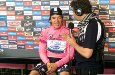 Giro de Italia, etapa 12: Rigoberto Urán ganó la crono y se viste con la 'maglia rosa'