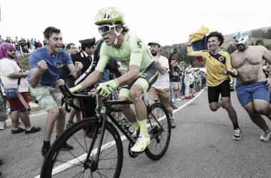 Rigoberto Urán se ubica en la cuarta casilla de la general del Tour de Francia|Foto: Yuzuru Sunada