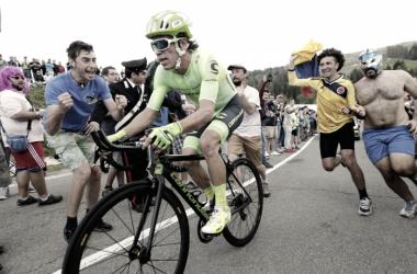 Rigobero Urán en el pasado Giro de Italia | Foto: Yuzuru Sunada