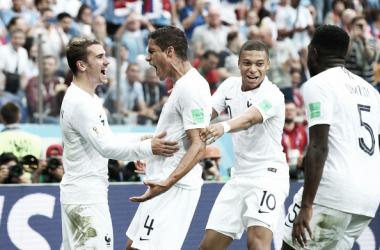 Varane y Griezmann anotaron los goles del partido. Foto: Zimbio Sports.