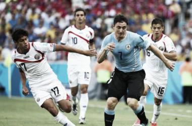 Uruguay y Costa Rica vienen de enfrentarse recientemente en el pasado mundial. // (Foto de fedefutbolcr.com)