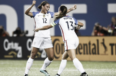 Lynn Williams and Alex Morgan scored for the USWNT in Cincinnati | Source: Brad Smith - ISI Photos