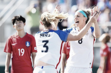 The U.S. Women's National Team earns the victory in Cary, NC | Source: Brad Smith - ISI Photos/US Soccer