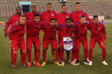 The USA U-20 squad, pictured before their 1-1 draw with Guatemala on Friday. (Photo Credit: US Soccer)