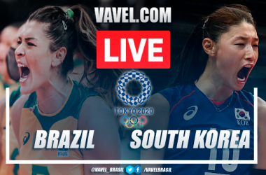Brazil 3-0 South Korea in women's volleyball at the Olympic Games Tokyo