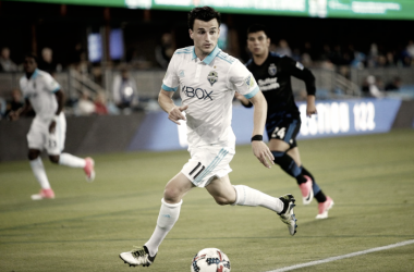 Aaron Kovar while with the Seattle Sounders. | Photo: Stan Szeto-USA TODAY Sports