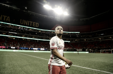 Josef Martinez in Atlanta's new Mercedes-Benz Stadium. | Photo: Brett Davis-USA TODAY Sports