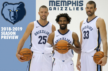 Memphis Grizzlies forward Chandler Parsons (left) guard Mike Conley (center) and forward Marc Gasol (right) pose during media day at FedExForum. |Sep 25, 2017; Chuck Cook-USA TODAY Sports|