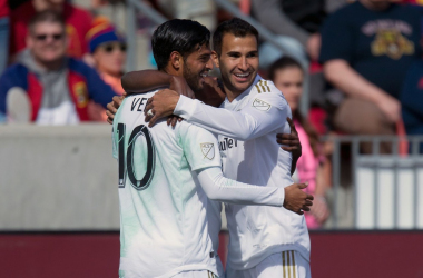 Carlos Vela celebrates his late goal (Photo: Russ Isabella-USA TODAY Sports)