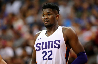 Phoenix Suns center Deandre Ayton (22) against the Dallas Mavericks during an NBA Summer League game. |Mark J. Rebilas-USA TODAY Sports|