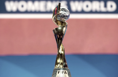 Women's World Cup Trophy (Photo courtesy: Marc DesRosiers - USA TODAY Sports)