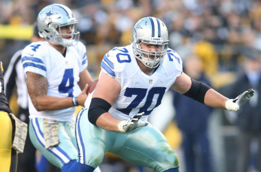 Dallas Cowboys guard Zack Martin (70) blocks in pass protection against the Pittsburgh Steelers during the first quarter at Heinz Field. |Charles LeClaire-USA TODAY Sports|