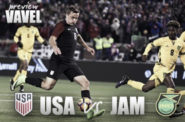 USA and Jamaica square off in the 2017 Gold Cup finals. | Source: Christopher Hanewinckel, USA TODAY Sports
