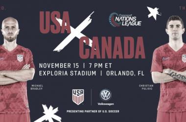 Cartel oficial del partido ante Canadá en el Estadio Exploria | Fotografía: U.S.Soccer