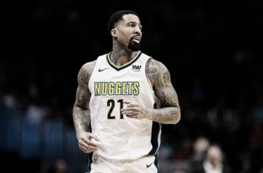 Denver Nuggets forward Wilson Chandler (21) in the first quarter against the Detroit Pistons at the Pepsi Center. |Isaiah J. Downing-USA TODAY Sports|