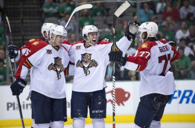The Florida Panthers are primed for a good season with young players, experienced veterans, and one of the top goalies in the league. (Jerome Miron / USA Today Sports)