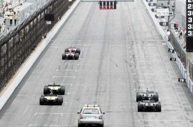The grid in 2005, only Ferrari, Jordan and Minardi raced.