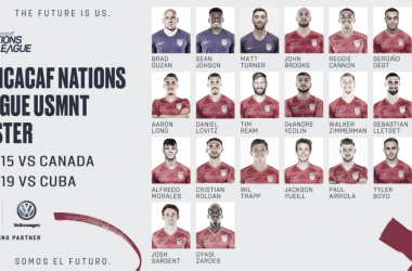 Convocatoria de los Estados Unidos para la Concacaf Nations League | Fotografía: US Soccer