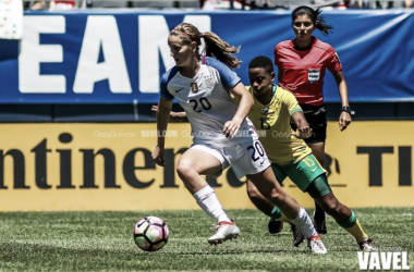 Lindsey Horan in send-off match against South Africa / Photo Credit: Gary Duncan