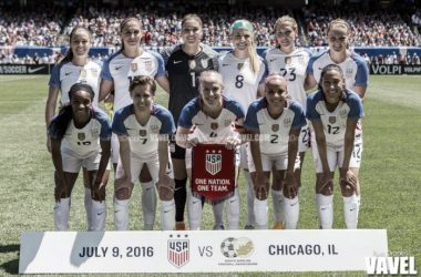 The USWNT took down South Africa 1-0 at Soldier Field on Saturday. (Photo credit: Russ Draper/VAVEL USA)