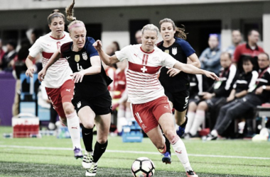 The USWNT won 4-0 and 5-1 in recent friendlies against Switzerland (Source: Icon Sportswire)