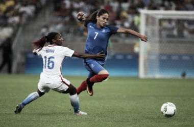 Score: USA 0 - 3 France in the 2017 SheBelieves Cup